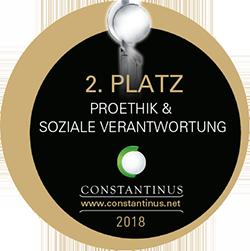 2. Platz beim Constantinus Award 2018