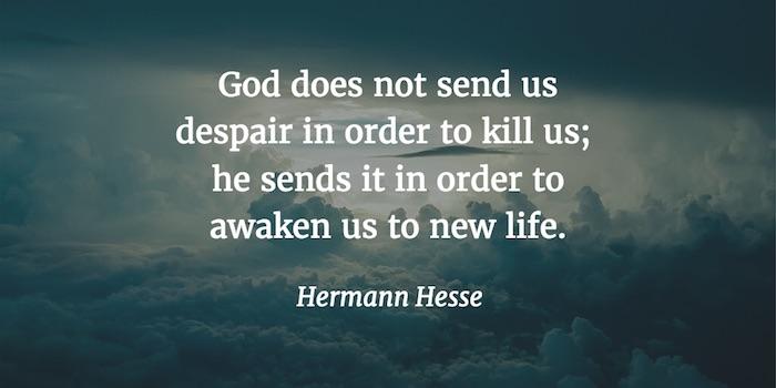 Zitate - Depression von Hermann Hesse